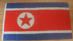 North Korea Large Country Flag - 3' x 2'.